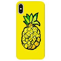 Чехол для Apple iPhone XS Max Sunny pineapple