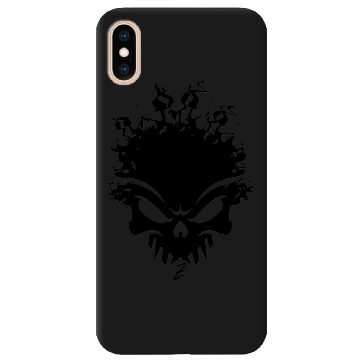 Чохол для Apple iPhone XS Max чорний матовий soft touch Ugolek