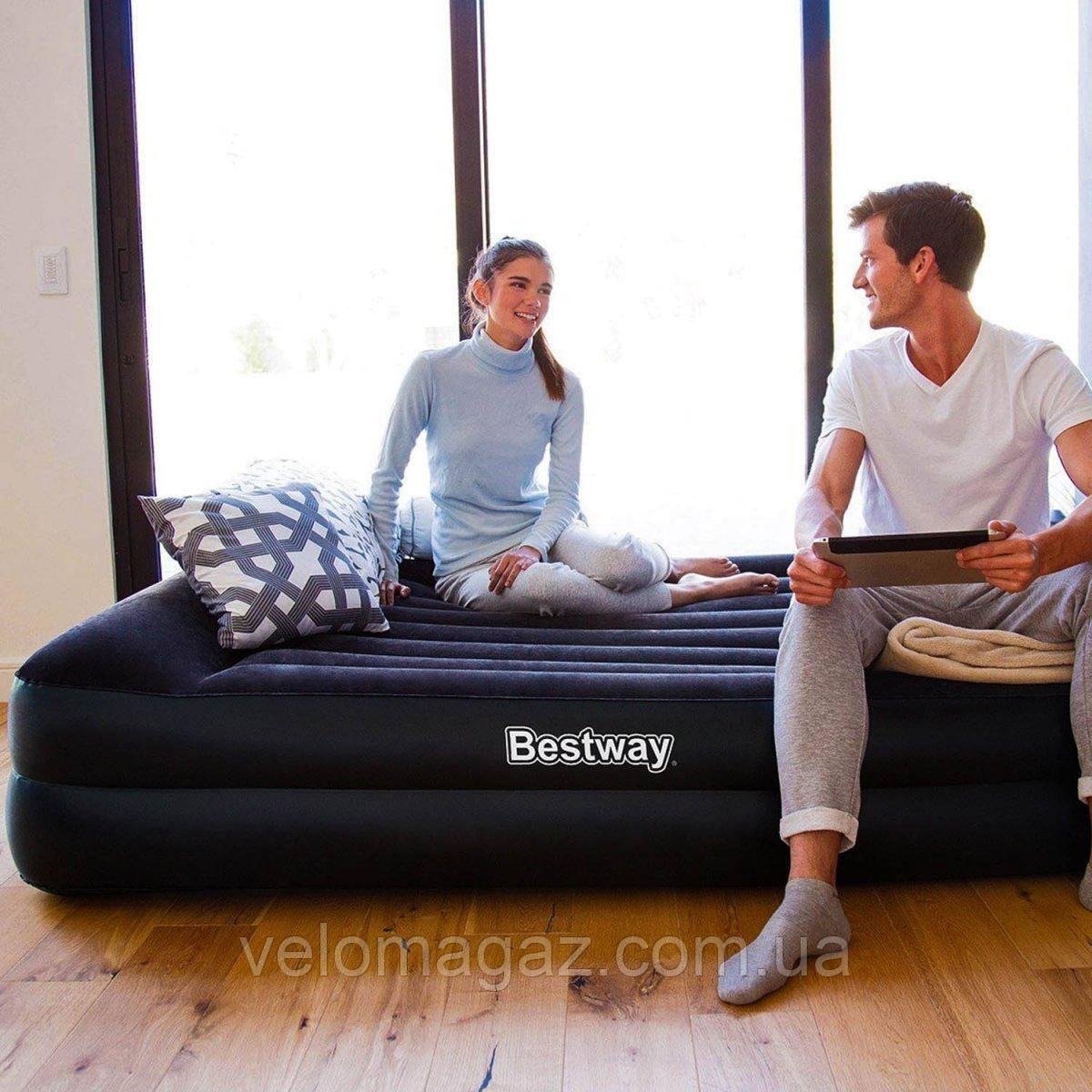 Надувная двухспальная кровать 203*163*48 см, встроенный эл.насос 220V, Bestway 67403