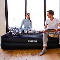 Надувная двухспальная кровать 203*163*48 см, встроенный эл.насос 220V, Bestway 67403, фото 1