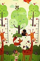 Ігровий підлоговий двосторонній складаний термо-килимок, бэбипол 1500*1800*8 мм в сумці Жираф