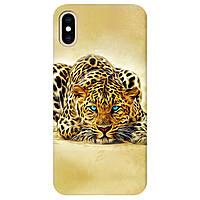 Чохол для Apple iPhone XS Max Леопард