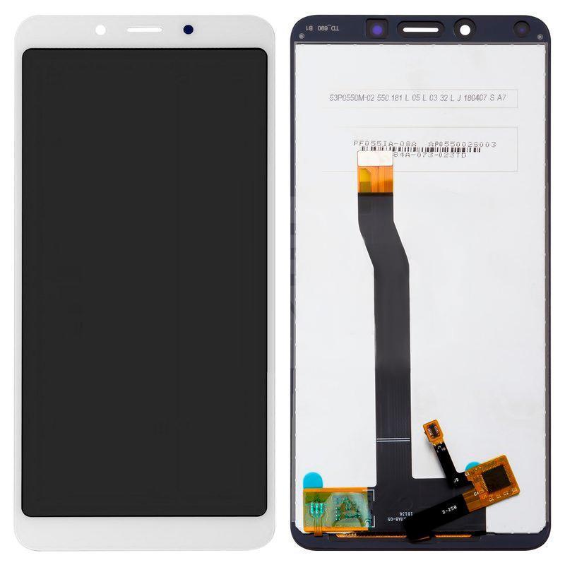 Екран і сенсор для Xiaomi Redmi 6, 6a (дисплей модуль) білий (OEM)