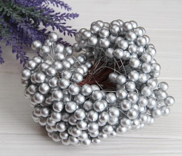 Калина ЛАКОВАЯ КРУПНАЯ  , серебро             400 шт