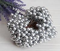 Калина ЛАКОВАЯ КРУПНАЯ  , серебро             400 шт, фото 1