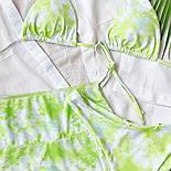 Жіночий купальник трійка з розводами, ліф шторки і спідниця із сітки в комплекті (р. S, M) 7725866, фото 8