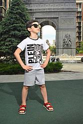 Летний комплект костюм для мальчика c шортами и футболкой Plein
