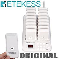 Беспроводная система оповещения и вызова клиентов и гостей с 16 пейджерами RETEKESS TD157