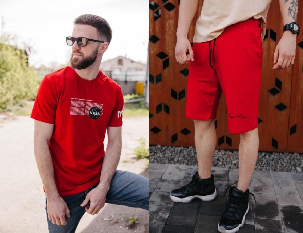 Чоловічий комплект футболка шорти nasa наса