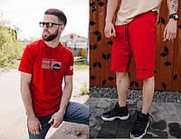 Костюм футболка шорты / Мужской летний Спортивный костюм Nasa черный, Стильный комплект Футболка и Шорты Наса