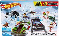 Адвент календарь Hot Wheels: 24-дневные праздничные сюрпризы с автомобилями и аксессуарами
