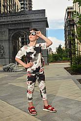 Летний комплект костюм для мальчика c шортами бриджами и футболкой
