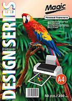 Дизайнерский картон А4 двухсторонний Розовый Перламутр  250 г /м, 50л.