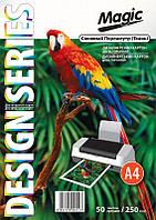 Дизайнерский картон А4 двухсторонний Снежный Перламутр 250 г /м, 50л.