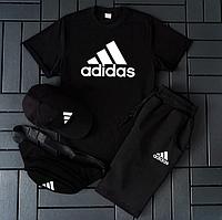 Футболка Шорты Adidas мужской костюм / Комплект летний Адидас Турция хлопок