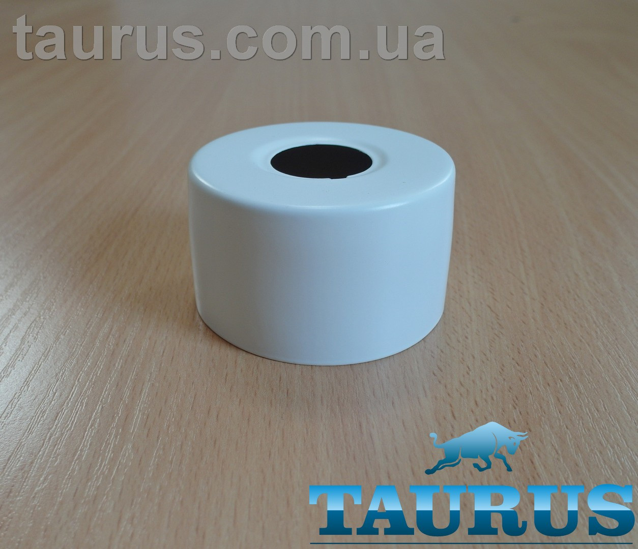 """Круглий білий об'ємний декоративний фланець D67 / висота 40 мм White, внутрішній розмір 3/4"""" (d25 мм)"""