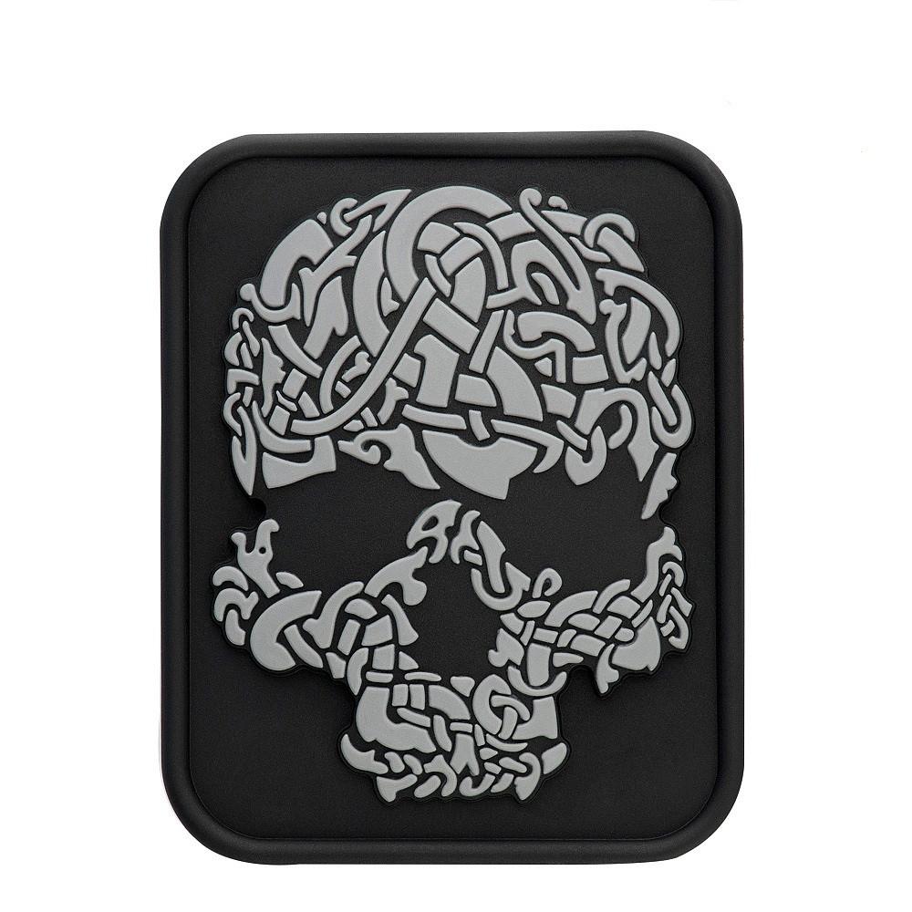 M-Tac нашивка Viking Skull PVC Black/Grey