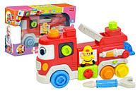 Пожежна машина-сортер UKA-A0007 ''Маленький пожежник'' батарейки, музика,