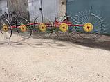 Граблі ворушилки Сонечко на 5 коліс спиця ∅6 мм на трактор Грабарка, гребка, сінограбарка, фото 9