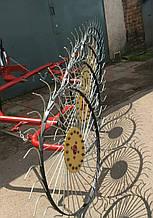 Грабли ворошилки Солнышко на 5 колес спица ∅6 мм на трактор Грабарка, гребка, сінограбарка