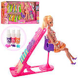 Лялька з вбранням 68033 шарнірна, довге волосся, сукні, стілець, фарба для волосся, кор.,66-33-11см., фото 2