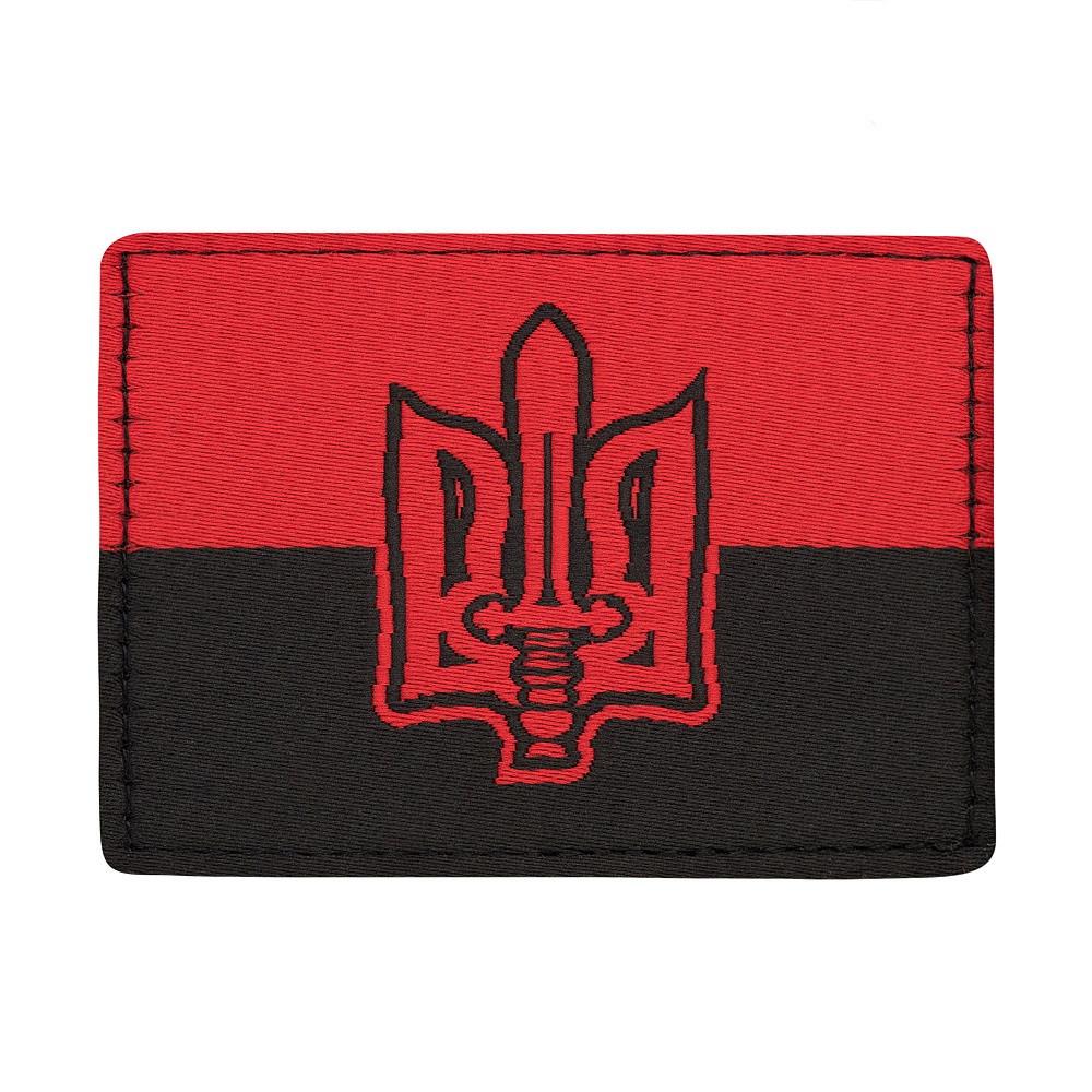M-Tac нашивка прапор червоно-чорний з гербом ОУН (жаккард)