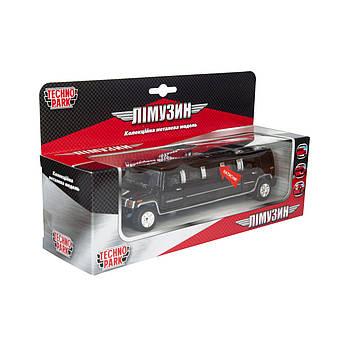 Игрушечная машинка металлическая лимузин Hammer Хаммер Черный (SL-971WN)