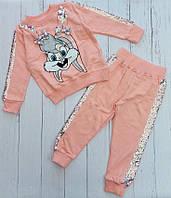 Детский костюм с пайеткой ЗАЙКА для девочки 2-5 лет, цвет уточняйте при заказе