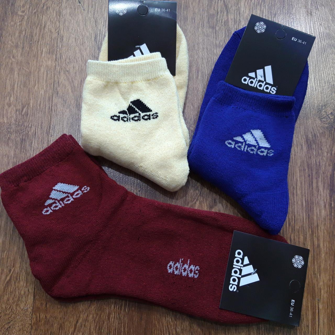 """Жіночі махрові шкарпетки в стилі""""Adidas А"""",Туреччина 36-41"""