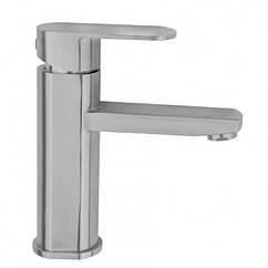Кран для умывальника одноручный FRAP F10805 1035783 сатин нержавеющая сталь 102388