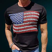 Футболка US Flag C Black