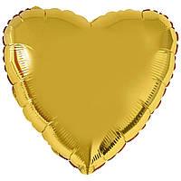 Ф Б/РИС 9' СЕРЦЕ Металік золоте(FM) (1204-0171)