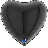 Г Б/РИС 4' Сердце черное Black (3204-0527)