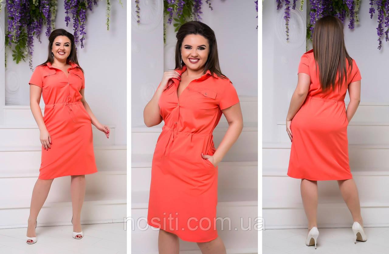 Жіноче плаття в стилі сорочки великі розміри