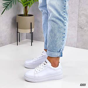 Белые кроссовки женские 1203 (ТМ)