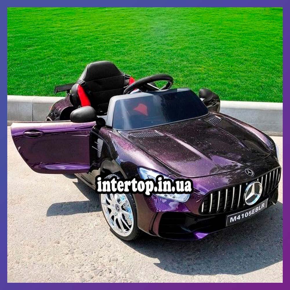 Детский электромобиль на аккумуляторе Mercedes M 4105 с пультом радиоуправления 3-8 лет автопокраска пурпурный