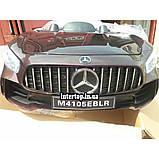 Детский электромобиль на аккумуляторе Mercedes M 4105 с пультом радиоуправления 3-8 лет автопокраска пурпурный, фото 2