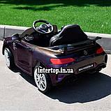Детский электромобиль на аккумуляторе Mercedes M 4105 с пультом радиоуправления 3-8 лет автопокраска пурпурный, фото 3