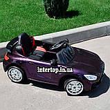 Детский электромобиль на аккумуляторе Mercedes M 4105 с пультом радиоуправления 3-8 лет автопокраска пурпурный, фото 6