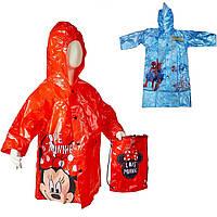 Плащ Дощовик Дитячий з Сумкою Мінні Маус (Minnie), Spider-Man, фото 1