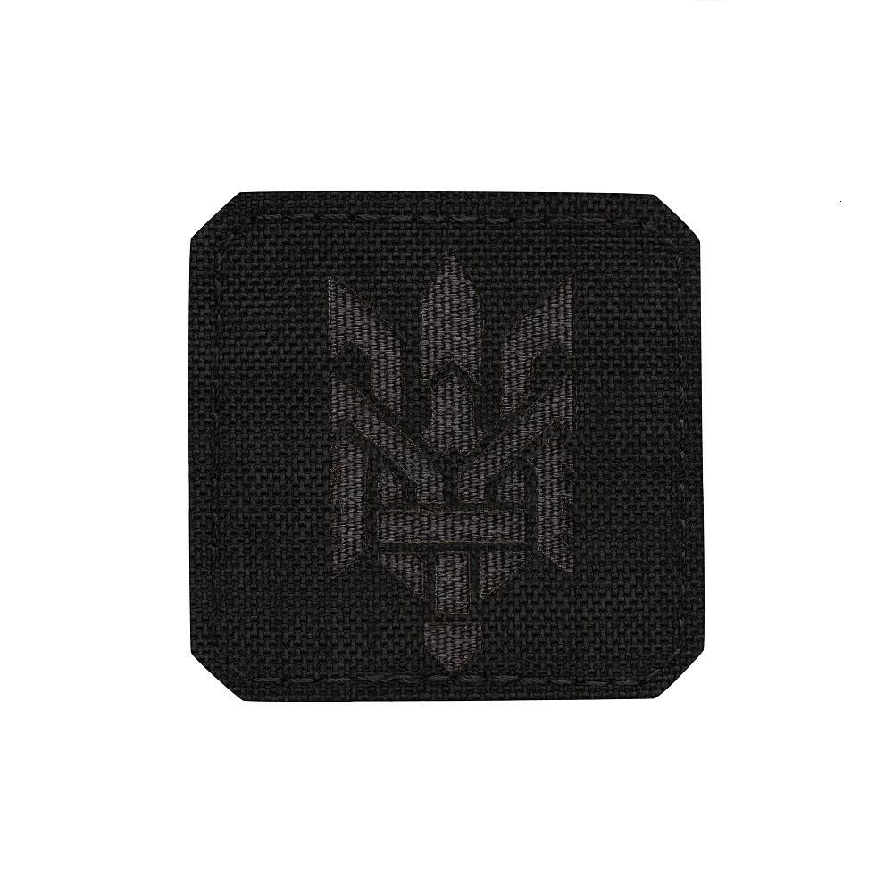 M-Tac нашивка Тризуб (стилізація) Laser Cut мала Black/Grey