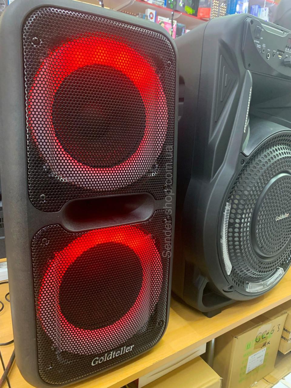 Колонка валізу з мікрофоном караоке 60 Вт GOLDTELLER GT-6032
