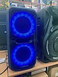 Колонка чемодан с микрофоном караоке 60 Вт GOLDTELLER GT-6032, фото 4