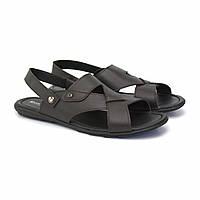 Коричневые сандалии трансформеры босоножки кожаные мужская обувь больших размеров Rosso Avangard BS Sandals