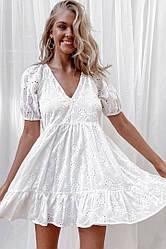 Женское короткое легкое платье