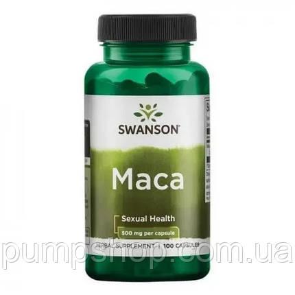 Для повышения тестостерона Swanson Full Spectrum Maca 500 мг 100 капс., фото 2