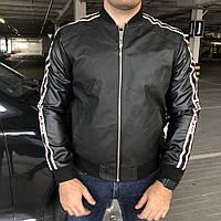 Куртка Jacket Gucci Stripe With Appliqué Black