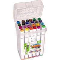Набор двухсторонних скетч-маркеров для рисования 24 штуки, фото 1