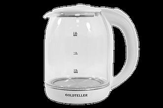 Электрический чайник Goldteller MG-06(1500 Вт / 1.8 литра/ нержавейка/ белый)