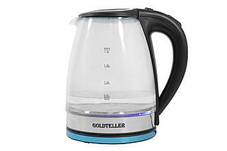 Электрический чайник Goldteller MG-05(1500 Вт / 1.8 литра/ нержавейка/ черный)